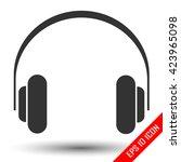 headphones icon. headphones... | Shutterstock .eps vector #423965098
