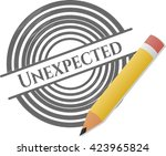 unexpected draw  pencil strokes  | Shutterstock .eps vector #423965824