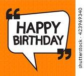 happy birthday illustration... | Shutterstock .eps vector #423969340