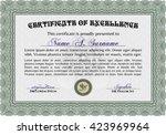 certificate template eps10 jpg... | Shutterstock .eps vector #423969964