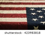 old american flag background... | Shutterstock . vector #423983818