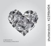Silver Vector Geometric Heart