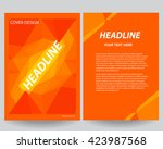 abstract flyers brochure annual ... | Shutterstock .eps vector #423987568