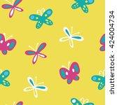 vector butterflies pattern   Shutterstock .eps vector #424004734