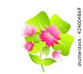 flowers | Shutterstock .eps vector #424004869