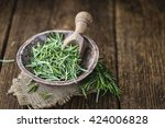 some fresh rosemary  close up... | Shutterstock . vector #424006828