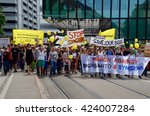 Small photo of BASEL, SWITZERLAND - May 21, 2016 - 2000 people in Basel demonstrate against agrochemical corporations Monsanto, Syngenta and ChemChina.