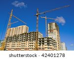 cranes on project and buildings | Shutterstock . vector #42401278