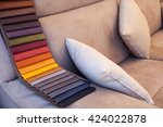 view of colored leather on sofa