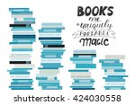 stack of books. vector... | Shutterstock .eps vector #424030558