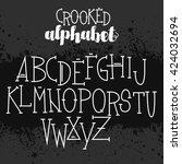 creepy set of voodoo letters... | Shutterstock .eps vector #424032694