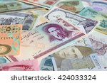 variety of middle east banknotes | Shutterstock . vector #424033324