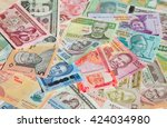 variety of the african banknotes | Shutterstock . vector #424034980