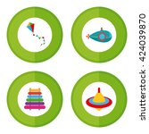 set of stickers with different... | Shutterstock .eps vector #424039870