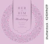 wedding invitation or card with ... | Shutterstock .eps vector #424049659