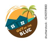 Island Cottage Vector Logo Out...