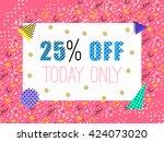 pop sale banner in memphis... | Shutterstock .eps vector #424073020