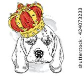 Cute Dog Wearing A Crown....