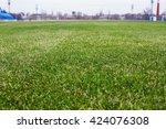 grass on the football field of...   Shutterstock . vector #424076308