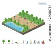 Isometric Central Park And Lak...