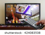 watching a basketball match in... | Shutterstock . vector #424083538