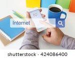 internet concept | Shutterstock . vector #424086400