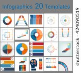 infographics 20 templates  text ... | Shutterstock .eps vector #424090519