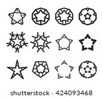 star icon set creative vector... | Shutterstock .eps vector #424093468