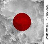 flag of japan. amazing stone... | Shutterstock . vector #424098028