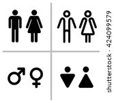 vector set of wc icons isolated ... | Shutterstock .eps vector #424099579