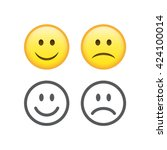 set of smile emoticons isolated ... | Shutterstock .eps vector #424100014
