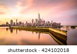 dawn in new york city  shot... | Shutterstock . vector #424102018