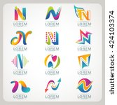 logo letter n element and... | Shutterstock .eps vector #424103374