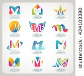 logo letter m element and... | Shutterstock .eps vector #424103380