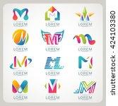 logo letter m element and...   Shutterstock .eps vector #424103380