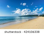 beautiful sea view on karon... | Shutterstock . vector #424106338