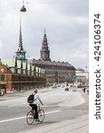 copenhagen historical city... | Shutterstock . vector #424106374