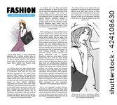 poster with  trendy girl in... | Shutterstock .eps vector #424108630