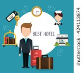 hotel service design  | Shutterstock .eps vector #424113874