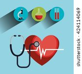 medical healthcare design  | Shutterstock .eps vector #424114069