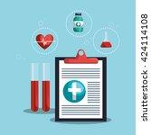 medical healthcare design  | Shutterstock .eps vector #424114108
