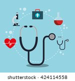 medical healthcare design    Shutterstock .eps vector #424114558