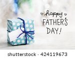 happy fathers day message with... | Shutterstock . vector #424119673