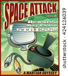 space attack video game cover | Shutterstock .eps vector #424126039