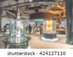 abstract blur science museum | Shutterstock . vector #424127110