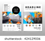geometric vector background.... | Shutterstock .eps vector #424129036