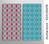vertical seamless patterns set  ... | Shutterstock .eps vector #424130698