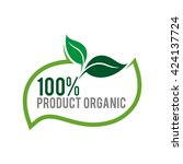 product organic green natural... | Shutterstock .eps vector #424137724