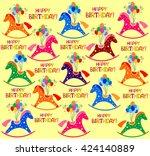 happy birthday  celebration... | Shutterstock . vector #424140889