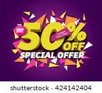 sale concept vector banner. | Shutterstock .eps vector #424142404
